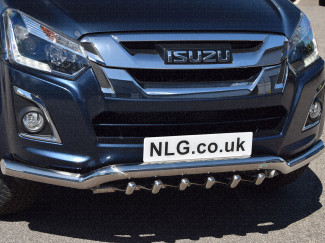 Isuzu D-Max On 70mm Stainless Steel Nudge Bar