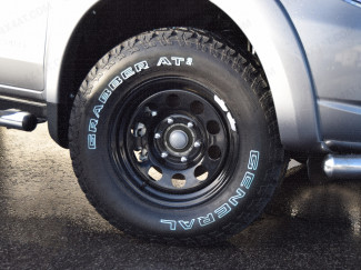 17X8 Black Modular Steel Rim For Nissan Navara D40
