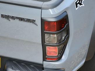 Ford Ranger Raptor matte black rear light surrounds