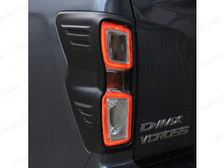Black headlamp surround fitted to an Isuzu Dmax