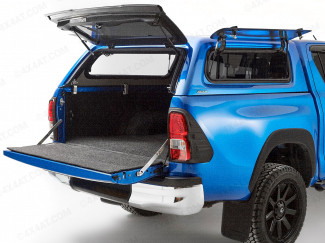 Aeroklas Leisure canopy with lift up side windows for Toyota Hilux double cab