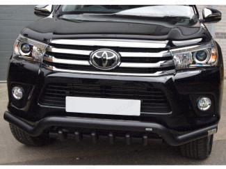 Toyota Hilux Front Bar - Spoiler Bar With Axle Bar In Black