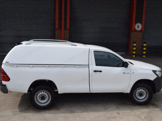 Carryboy commercial single cab canopy fitted to a Toyota Hilux
