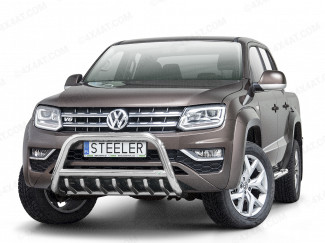 VW Amarok 2017 Onwards A Bar With Cross Bar And Axle Bar In Stainless Steel