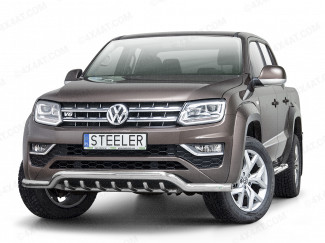 VW Amarok 2017 on Spoiler Bar with Axle Bars in Stainless Steel