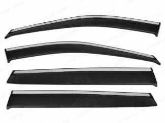 Hyundai Tucson wind deflectors with chrome strip