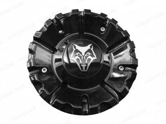 Wolfrace Vermont Centre Caps (Black) Including Sticker