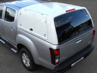Isuzu D Max Carryboy Workman Hard Trucktop With Side Rear Access Doors - Corner View From Above
