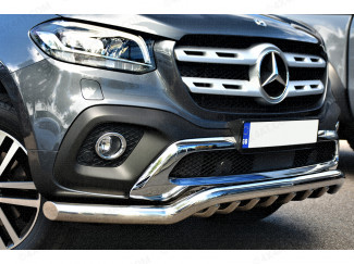 Mercedes X-Class Spoiler Bar With Axle Bars In Stainless Steel