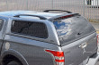 Mitsubishi L200 Double Cab 2015 Carryboy Windowed Leisure Truck Top Canopy With Roof Rails Rear Corner - View From Above