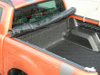 Tonneau cover locks into place using two clips at the bulkhead end