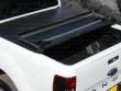 Black soft tri folding truck top cover
