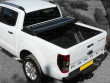 Soft tri folding tonneau cover fitted to a Ford Ranger