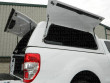 Dual side access gullwing doors on gas rams