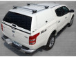 Mitsubishi L200 Series 5 Pick-Up Trucktop With Roof Rails With Sliding Carrier X-Bars - View From Above