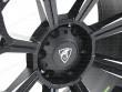 Predator badge on the Matt black alloy wheel