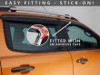 3M self-adhesive installation wind deflectors, Ford Ranger T6 12 on