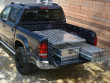 Aluminium double drawer toolbox for double cab pickup