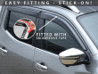 3M self-adhesive installation wind deflectors, Toyota Hilux 6 Double Cab