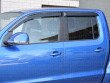 Dark smoke, tinted Volkswagen Amarok wind deflectors