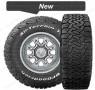 BF Goodrich all terrain KO2 tyre with tyre tread pattern