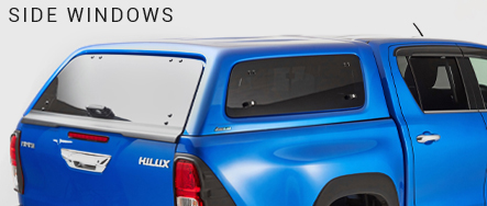 Shop for a leisure hardtop canopy (with windows) for your pickup truck