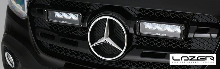 Lazer Lights Elite Triple R-4 Mercedes X-Class Grille Integration