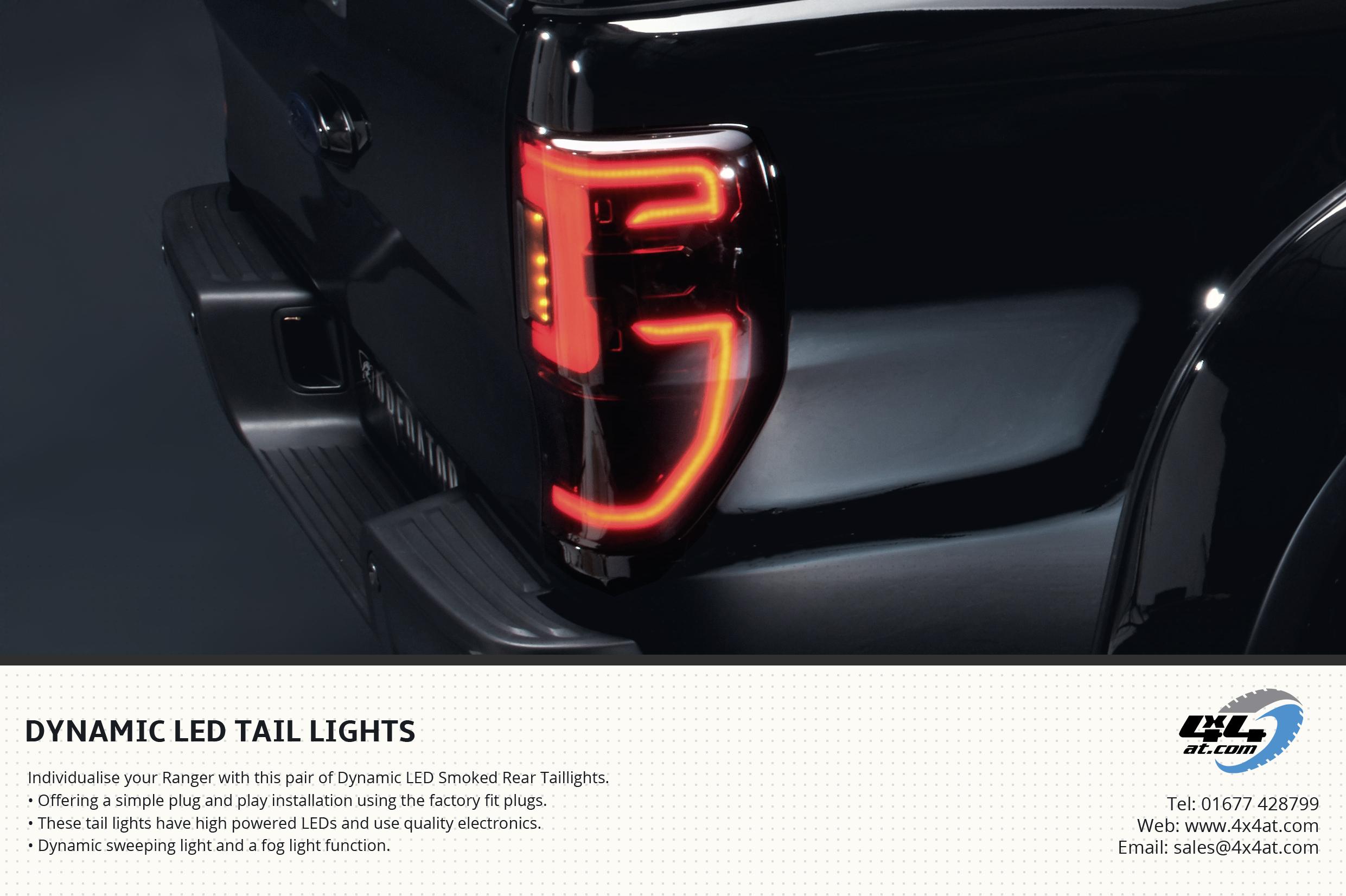 Dynamic Tail Lights Flyer for Ford Ranger