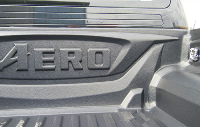 Aero logo on bed liner