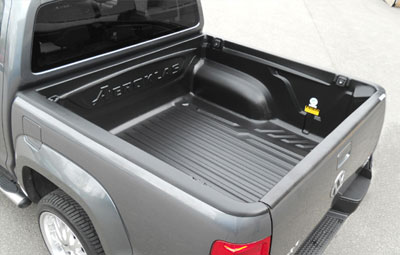 Double cab Aeroklas over rail bed liner