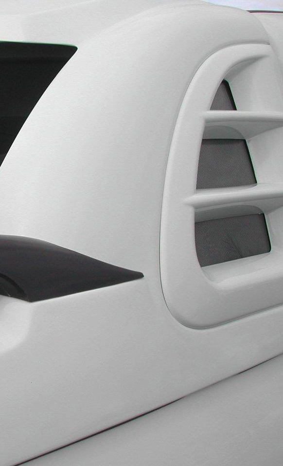 Close up side view of the Alpha SC-R cosmetic vent