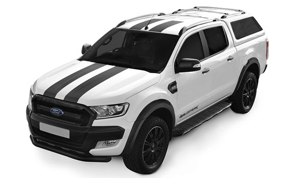 Alpha Type E Canopy colour matched to Ford Ranger White