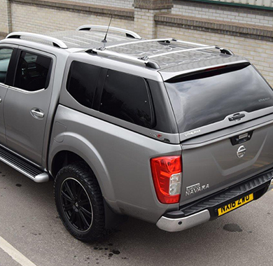 Alpha Type-E Truck Top Canopy fitted to a Toyota Hilux