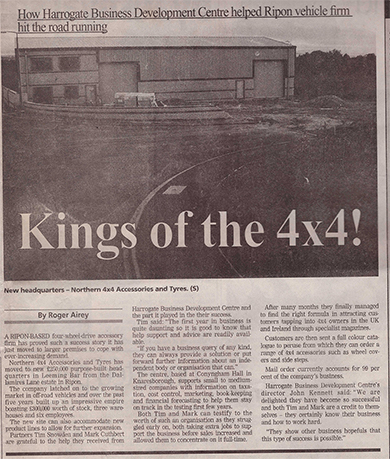 Kings of the 4x4! - Newspaper article from June 25th 1999