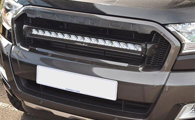 Ford Ranger grill fitted with a Triple-R 16 Light