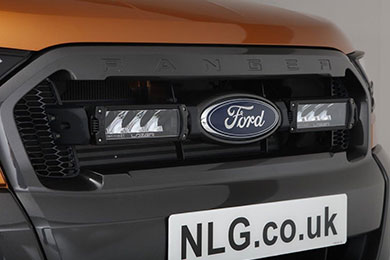 Ford Ranger grill fitted with Triple R4 kit