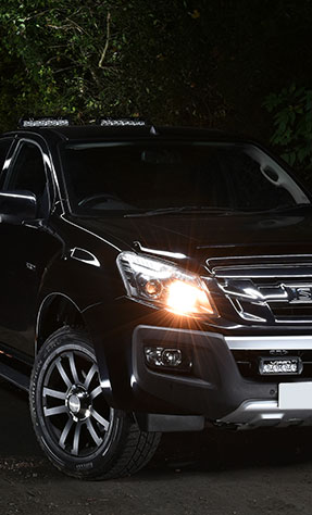 Isuzu D-Max fitted with Lazer LED lights