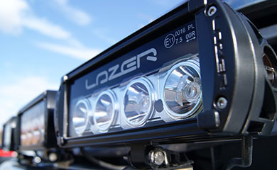 Lazer Lamp RS-4 fitted to a light bar