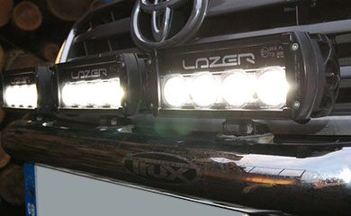 Trux light bar fitted with 3 Triple R-4 LED lights