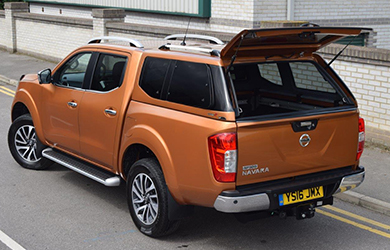 Nissan Navara fitted with an Alpha Type-E canopy