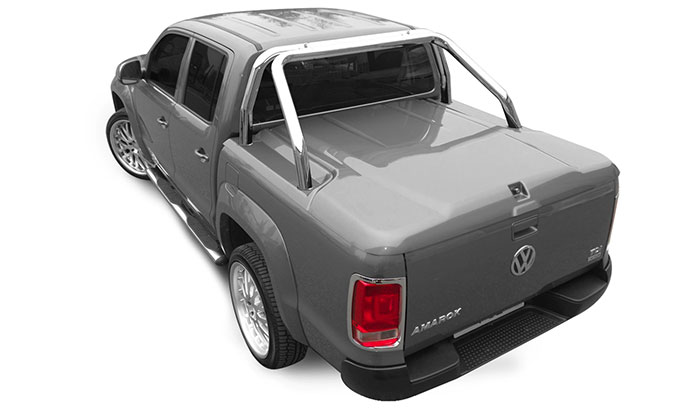 Proform 3 piece sports lid in grey on a VW Amarok