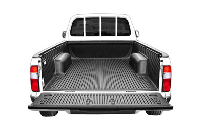 Open tailgate with Proform over rail bed liner
