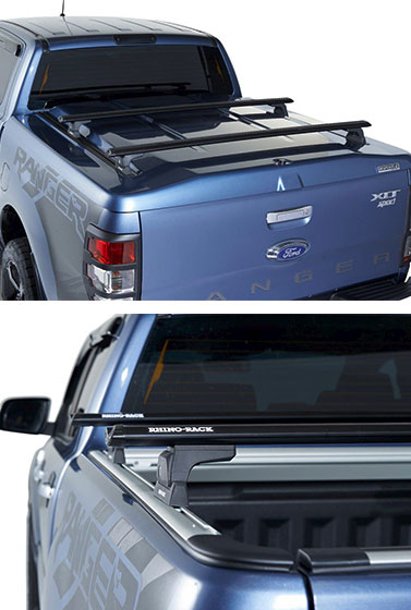 Proform Tango Sportlid with roof bars on a Ford Ranger