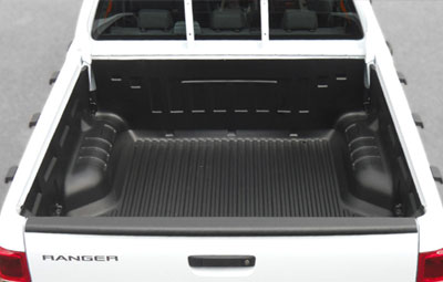 Ford Ranger with under rail bed liner