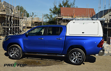 Pro//Top High Roof Gullwing Canopy on a Toyota Hilux
