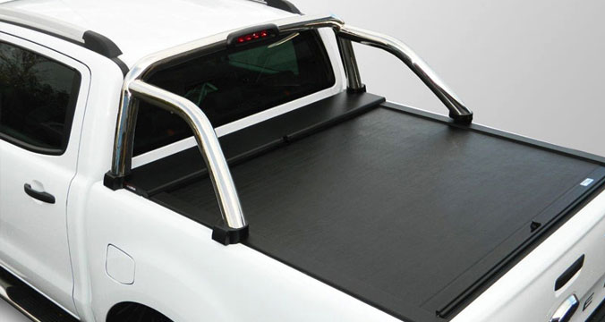 Roll N Lock load bed cover with roll bar fitted
