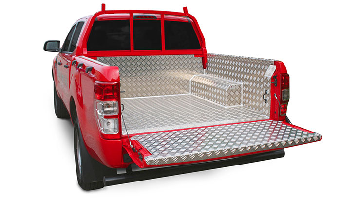 Fitted Samson chequer plate bed liner