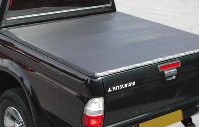 Mitsubishi with a soft hidden snap tonneau cover
