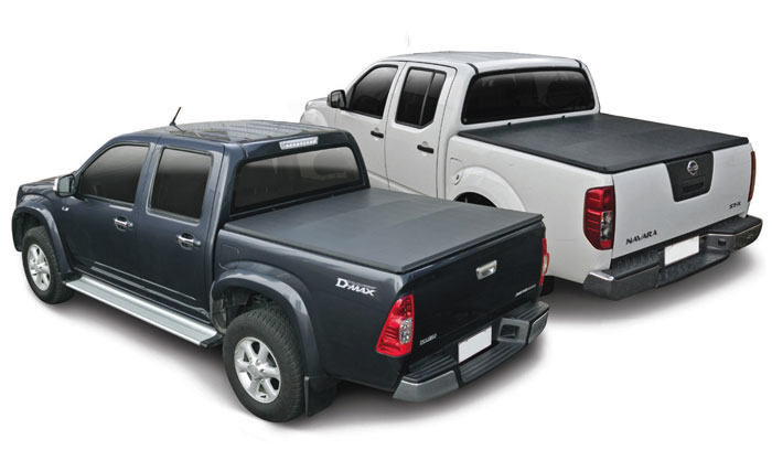 Soft Hidden Snap Tonneau cover on an Isuzu D-Max and a Nissan Navara
