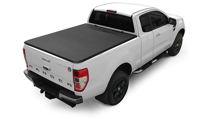 Soft Hidden Snap Tonneau Cover fitted to a Ford Ranger
